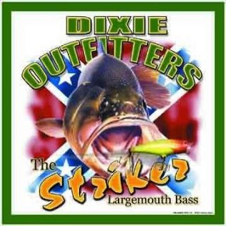 LARGE MOUTH STRIKER BASS DIXIE OUTFITTERS METAL WALL DECOR SIGN NEW