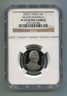 ngc proof pl 65 south africa nelson mandela r5 coin