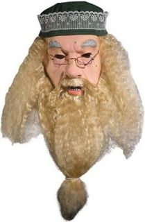 harry potter albus dumbledore latex costume mask new