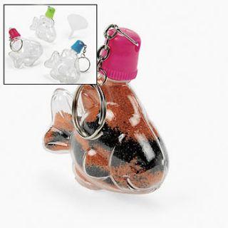 tropical fish sand art bottle key chain 12 pcs 48