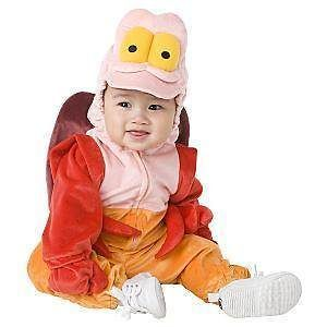 DISNEY Sebastian LITTLE Mermaid CRAB Halloween COSTUME 6 12 Months