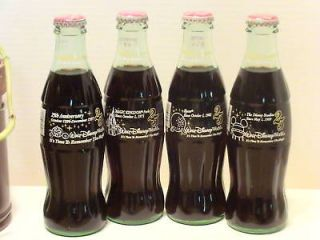 Newly listed Disney World 25th Anniversary   4 coke bottle set