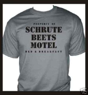 office dunder dwight schrute farms beets motel t shirt
