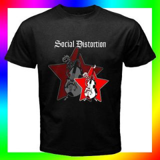 Hot Rare SOCIAL DISTORTION #3 S M L XL 2XL Sizes Available Black T