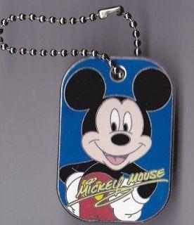 Disney Pin Spotlight Dog Tag Mickey Mouse Dogtag Name Military Walt