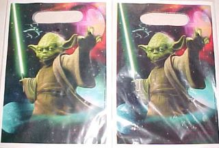 NEW STAR WARS TOY LOOT BAGS PARTY SUPPLIES YODA PARTY TREAT BAGS