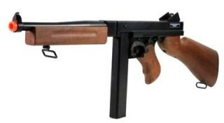 Thompson MILITARY M1A1 Replica Electric Airsoft Gun LICENSED CYBERGUN