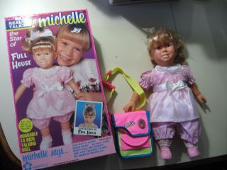Vintage Real Talking Michelle doll, from Full House, w/box, manual