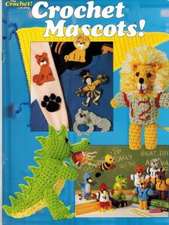 School Spirit Mascots Football Players & More Crochet Patterns Great