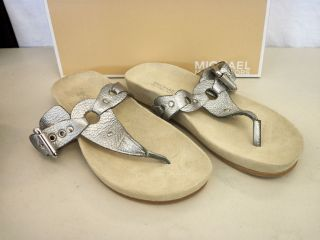 Michael Kors New Womens Sycamore Thong Leather Flip Flops Sandals 8 M
