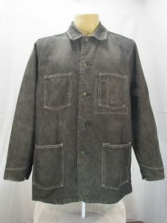 VTG Oshkosh Classic Engineer Work Wear Black Denim Jacket Size L
