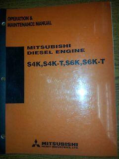 MITSUBISHI DIESEL ENGINE S4K / S4K T / S6K / S6K T OPS/MAINT MANUAL