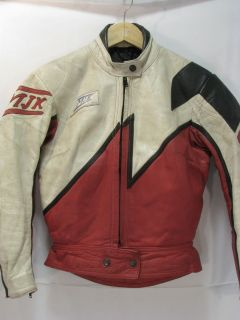 vtg mjk leather motorcycle racing jacket made in holland