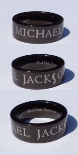 michael jackson black tungsten ring from bulgaria