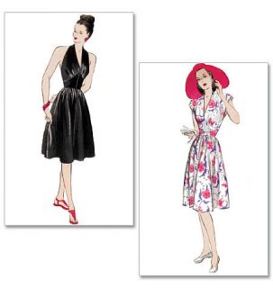 RETRO BUTTERICK 50s FIFTIES MARILYN MONROE GODDESS DRESS PATTERN NEW