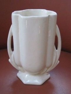 1940 s mccoy pottery gloss white 5 5 vase time