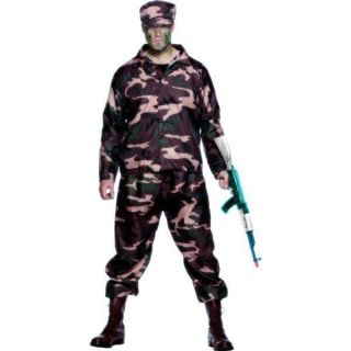 adult mens army soldier military fancy dress costume