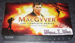 MacGyver The Complete Series 39 Disc DVD Box Set Collection Season 1 2