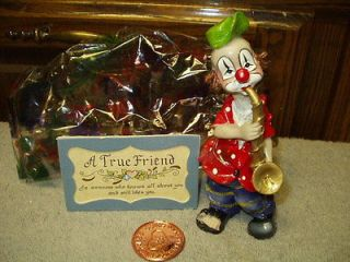 Newly listed Figurine CIRCUS CLOWN True Friend Gift Collection Horn