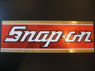 New! Vintage Snap on Snap on Bill Elliot Tool Box Sticker Emblem