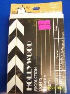 Hollywood Oscar Movies Prom Black Gold Stars Theme Party Clapboard