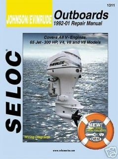 johnson evinrude outboard motor engine repair manual time left $