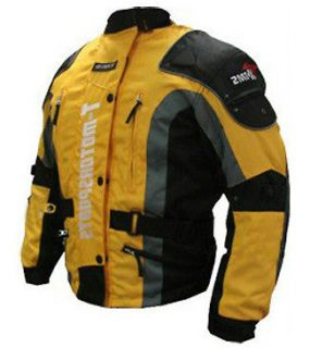 Yellow Mens Motorcycle ARMOR Jacket Motorcycle Enduro Touring Dual