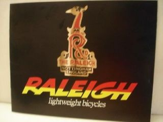 Newly listed 70S RALEIGH BICYCLES FULL COLOR SALES BROCHURE ROAD BIKE