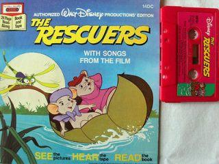 THE RESCUERS 14DC Disney Read Along Book & Cassette Tape Set