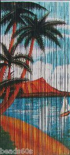 Bamboo Beaded Beads Curtain Bead Door Divider beach/PALM/MOUNTAIN VIEW