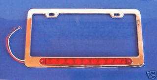 license plate frame red 10 led bar third brake light