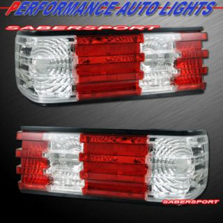 1981 1991 MERCEDES BENZ W126 S CLASS 2DR 4DR RED CLEAR TAIL LIGHTS