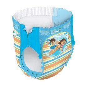 21 Pampers Splashers Swim Diapers size 6 Dora & Diego Boys & Girls