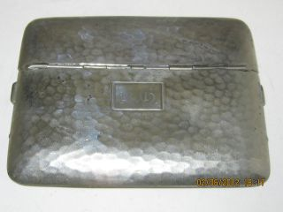 vintage presto silver nickel cigarette case  29