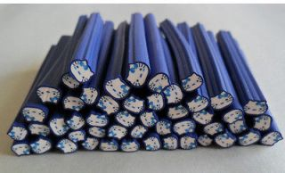 50pcs hello kitty nail Fimo Canes Rods Sticks Sticker DIY Slice Tips