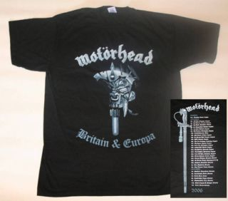 motorhead tour shirt in Clothing,