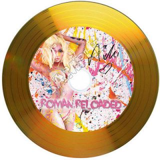 Nicki Minaj Roman Reloaded Signed Gold Disc with Autographs. Ideal