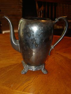 vintage fb rogers silver co tea coffee pot 2670 time