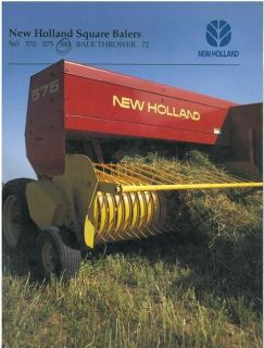 New Holland 565 570 575 Baler 72 and 77 Bale Thrower Sales