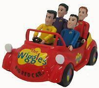 the 4 wiggles the big red car bnip from australia
