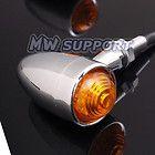 Chrome LED Bullet Mini TURN SIGNAL LIGHT for Harley Custom Chopper