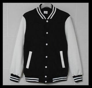 men baseball jacket letterm an varsity jacket black xl