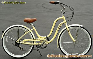 Aluminum Frame, Fito Verona Alloy 7 speed 26 Beach Cruiser Bicycle