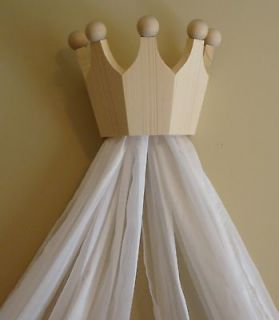 Pine Bed Crown / Cornice / Valance / Canopy for Nursery ON SALE