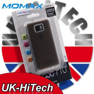 MOMAX TRANSPARENT EDGE+BLACK ICASE PRO CASE FOR SAMSUNG GALAXY S 2 II