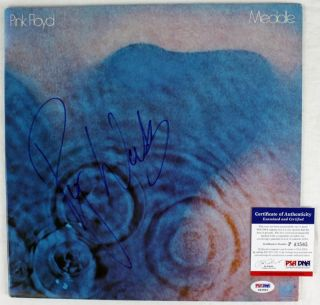 ROGER WATERS PINK FLOYD MEDDLE SIGNED ALBUM COVER PSA/DNA #P43565