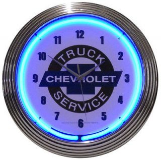 New Neon Lighted GM Chevrolet Chevy Truck Service Neon Clock