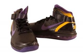 Nike Black/Purple Air Max Hyper Dunk 2010 High Top Sneakers Mens