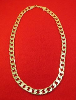 30 14KT EP 10 MM CUBAN CURB HEAVY BLING HIP HOP CHAIN NECKLACE W