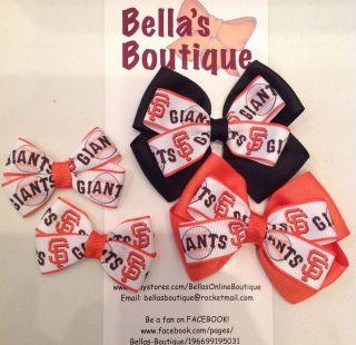Pick SAN FRANCISCO GIANTS Baseball Boutique Bow Hair Clip OR Headband